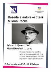 foto - Beseda a autorské čtení Milana Ráčka