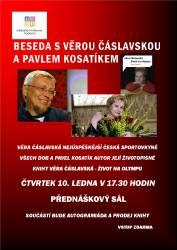 foto - Beseda s Věrou Čáslavskou a Pavlem Kosatíkem