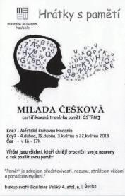 foto - Milada Češková - Hrátky s pamětí