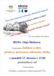 foto - MUDr. Olga Míčková - Infekce u dětí - projevy, prevence, očkování, léčba