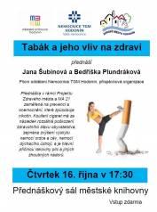 foto - Jana Šubínová a Bedřiška Plundráková - Tabák a jeho vliv na zdraví