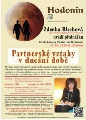 foto - Zdenka Blechová - Partnerské vztahy v dnešní době