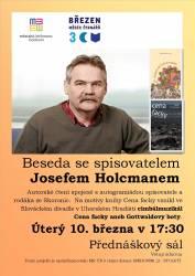 foto - Beseda se spisovatelem Josefem Holcmanem