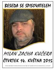 foto - Beseda se spisovatelem Milanem Zachou Kučerou