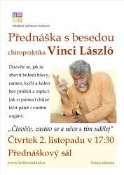 foto - Přednáška s besedou chiropraktika Vinci László