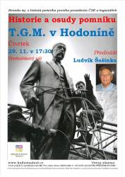 foto - Ludvík Šašinka - Historie a osudy pomníku T.G. Masaryka v Hodoníně a T. G. Masaryk a legionáři