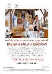 foto - Irena a Milan Ráčkovi – Povídání o životě aneb 50 let doma v cizině