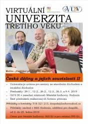 foto - Virtuální univerzita třetího věku V semestru pro jaro 2019 otevíráme téma České dějiny a jejich souvislosti II