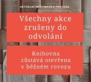 foto - Nová opatření - Knihovna otevřena, říjnové akce zrušeny!
